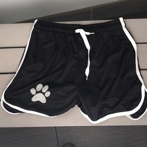 Other - Paw print sexy athletic shorts